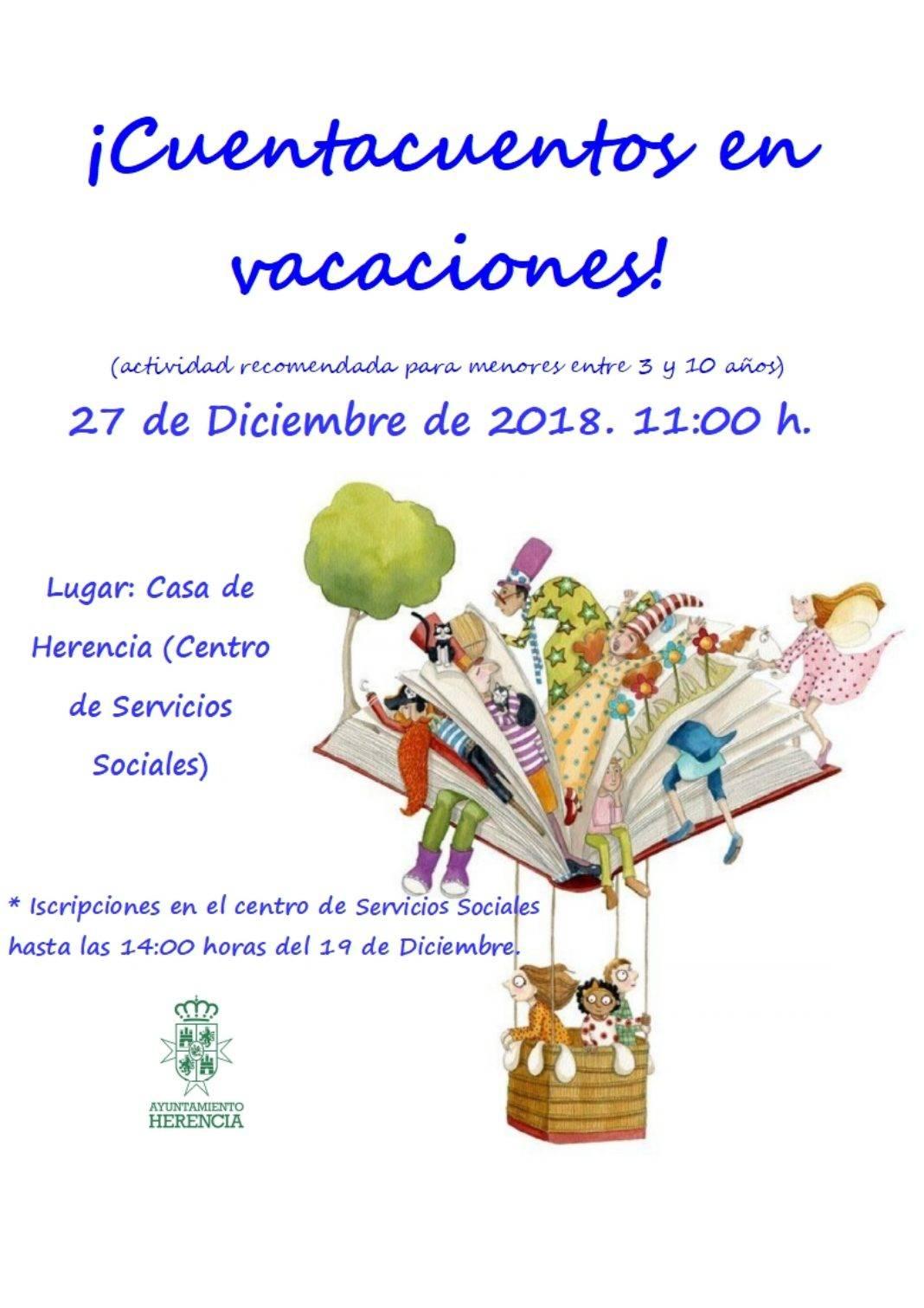 Cuentacuentos en vacaciones 1068x1511 - Cuentacuentos en la Casa de Herencia el 27 de diciembre