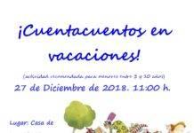 Cuentacuentos en la Casa de Herencia el 27 de diciembre