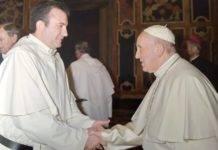 Luis Callejas presente en la audiencia del Papa con los mercedarios con motivo de la celebración de su jubileo