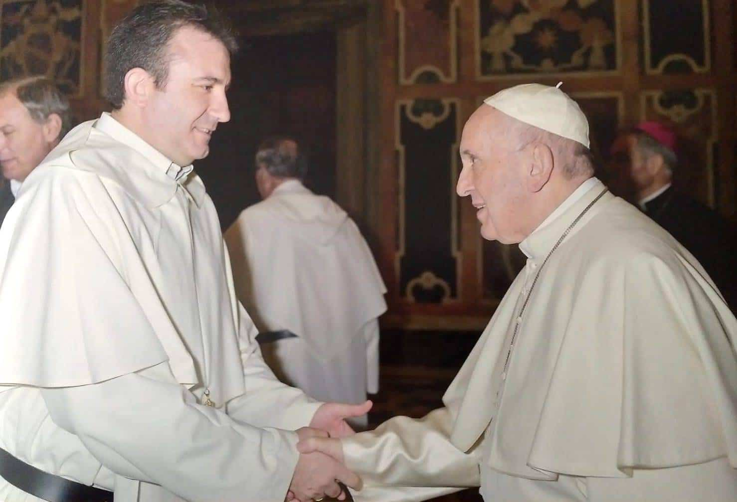 El mercedario Luis Callejas con el Papa Francisco - Luis Callejas presente en la audiencia del Papa con los mercedarios con motivo de la celebración de su jubileo