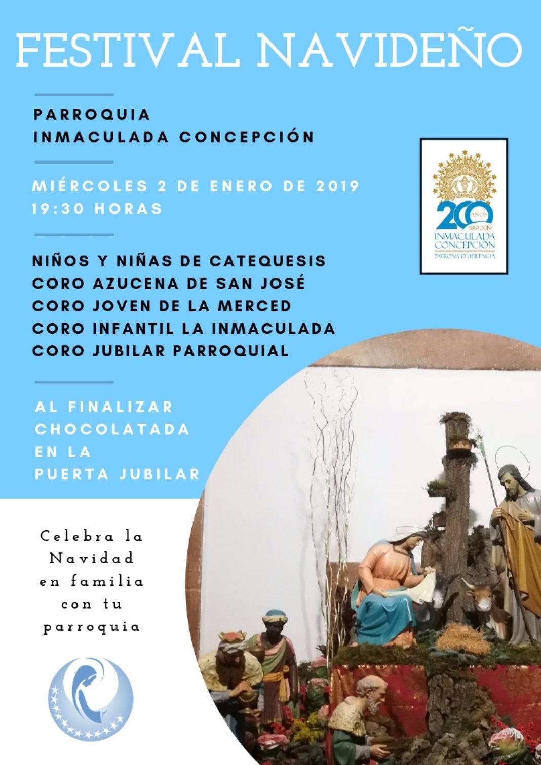 Festival navideño parroquia 1 1068x1511 - Festival navideño de villancicos en la parroquia de Herencia