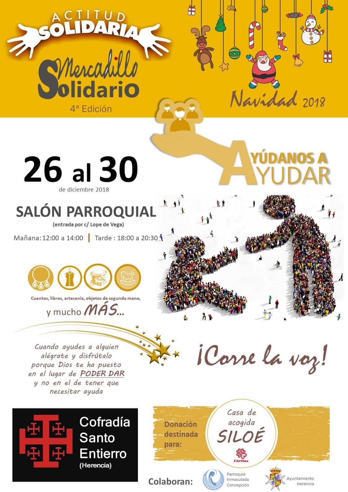 IV mercadillo solidario del Santo Entierro - La Cofradía del Santo Entierro prepara su cuarto mercadillo solidario