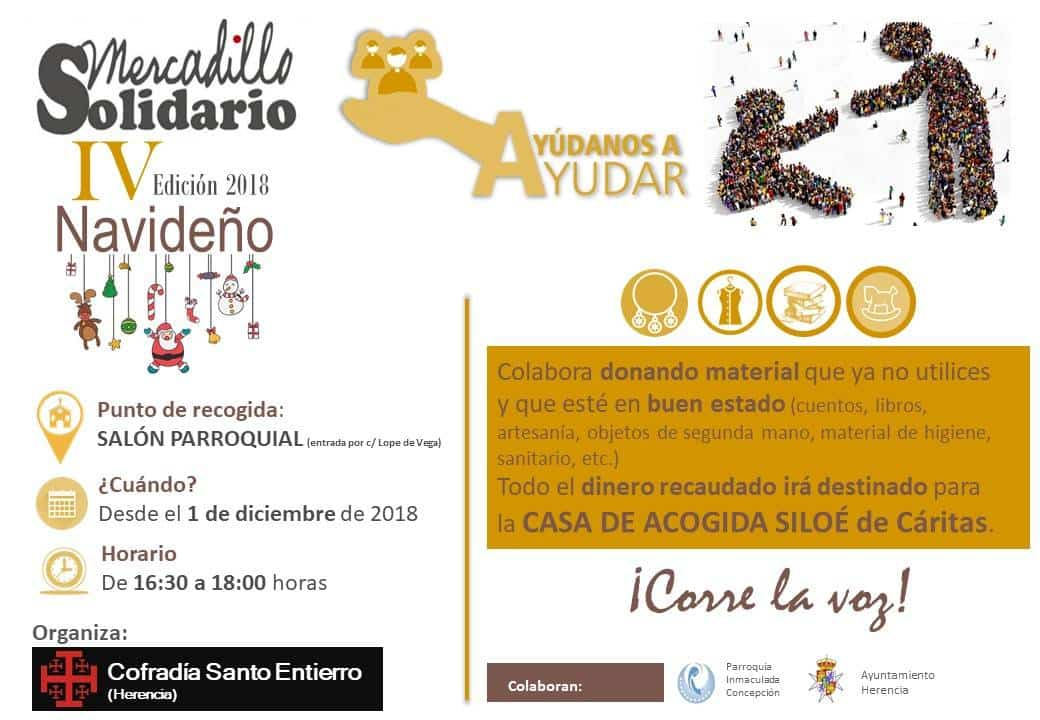IV mercadillo solidario del Santo Entierro1 - La Cofradía del Santo Entierro prepara su cuarto mercadillo solidario