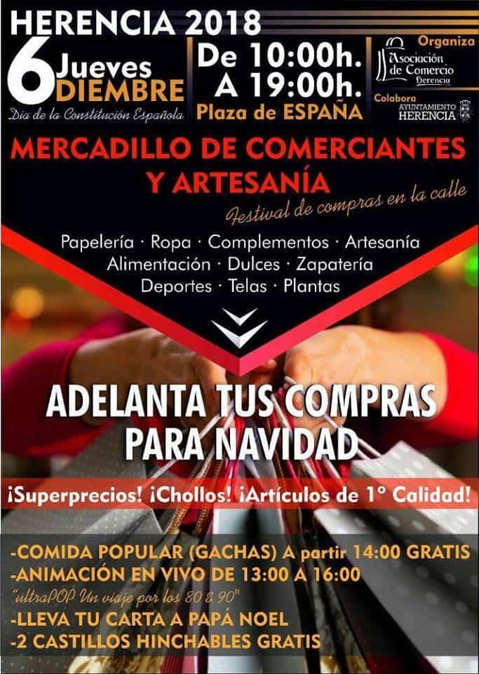Mercadillo de comerciantes y artesanos - Mercadillos de comerciantes y artesanos durante el 6 de diciembre