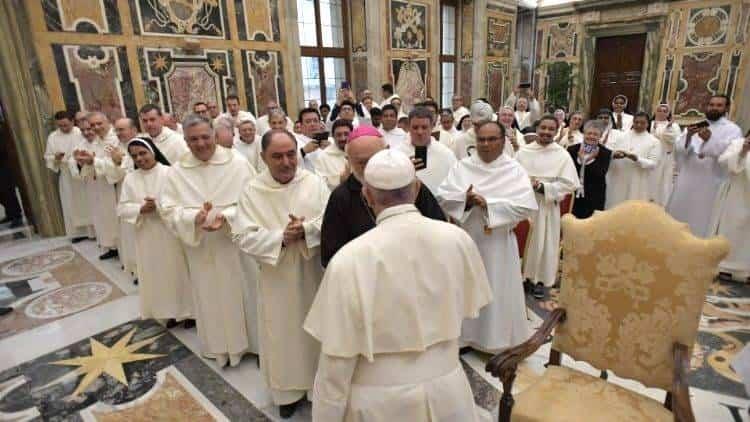 Mercedarios junto al Papa Francisco - Luis Callejas presente en la audiencia del Papa con los mercedarios con motivo de la celebración de su jubileo