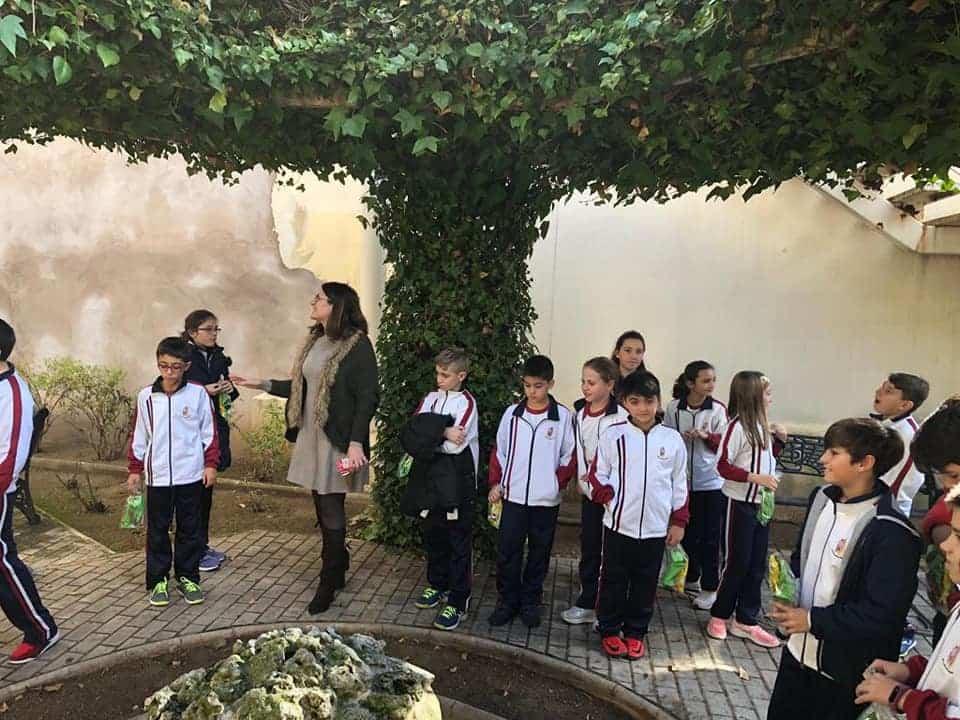 Alumnos del colegio Mercedarias de Herencia visitan el Ayuntamiento de Herencia 2
