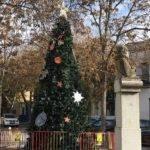 Un gran árbol de navidad en la Plaza Cervantes de Herencia 4