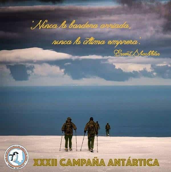campana antartica - El Perlé del Carnaval de Herencia camino a la Antártida