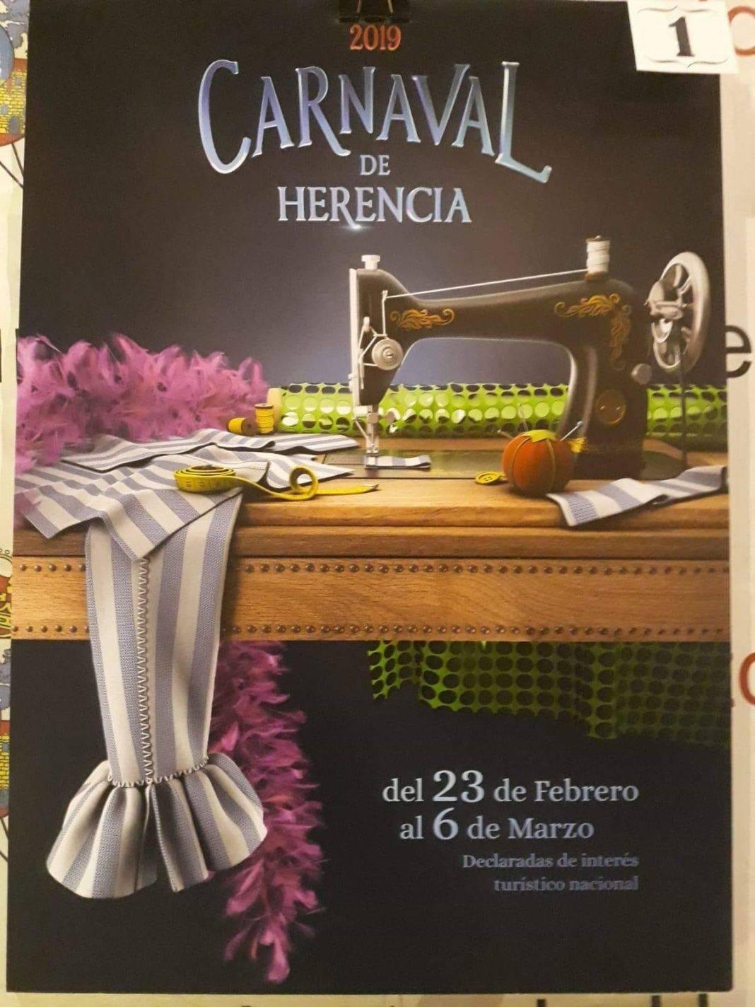 cartel de carnaval herencia 2019 1068x1424 - Empieza la promoción del cartel del Carnaval de Herencia 2019
