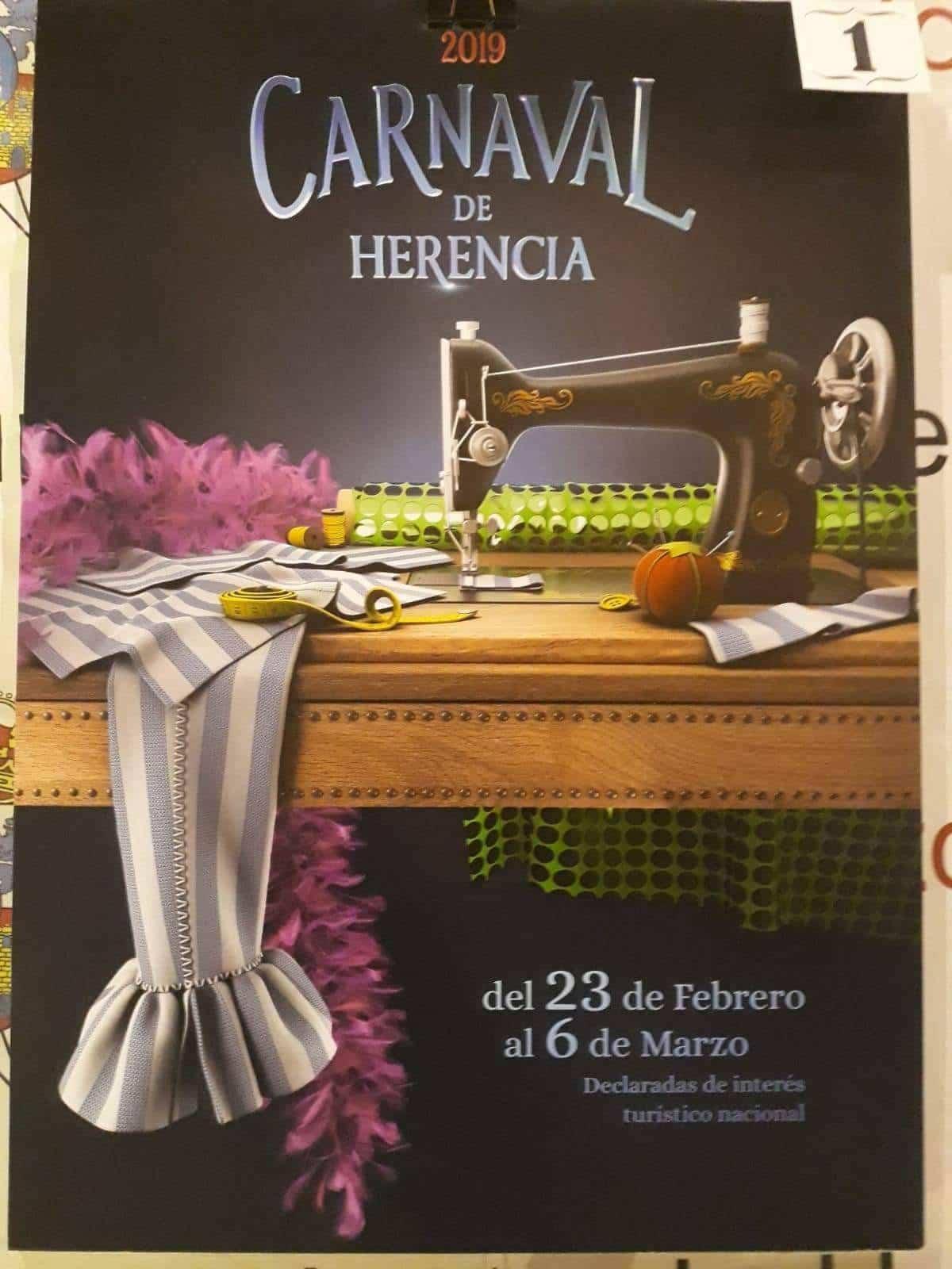 cartel de carnaval herencia 2019 - Empieza la promoción del cartel del Carnaval de Herencia 2019