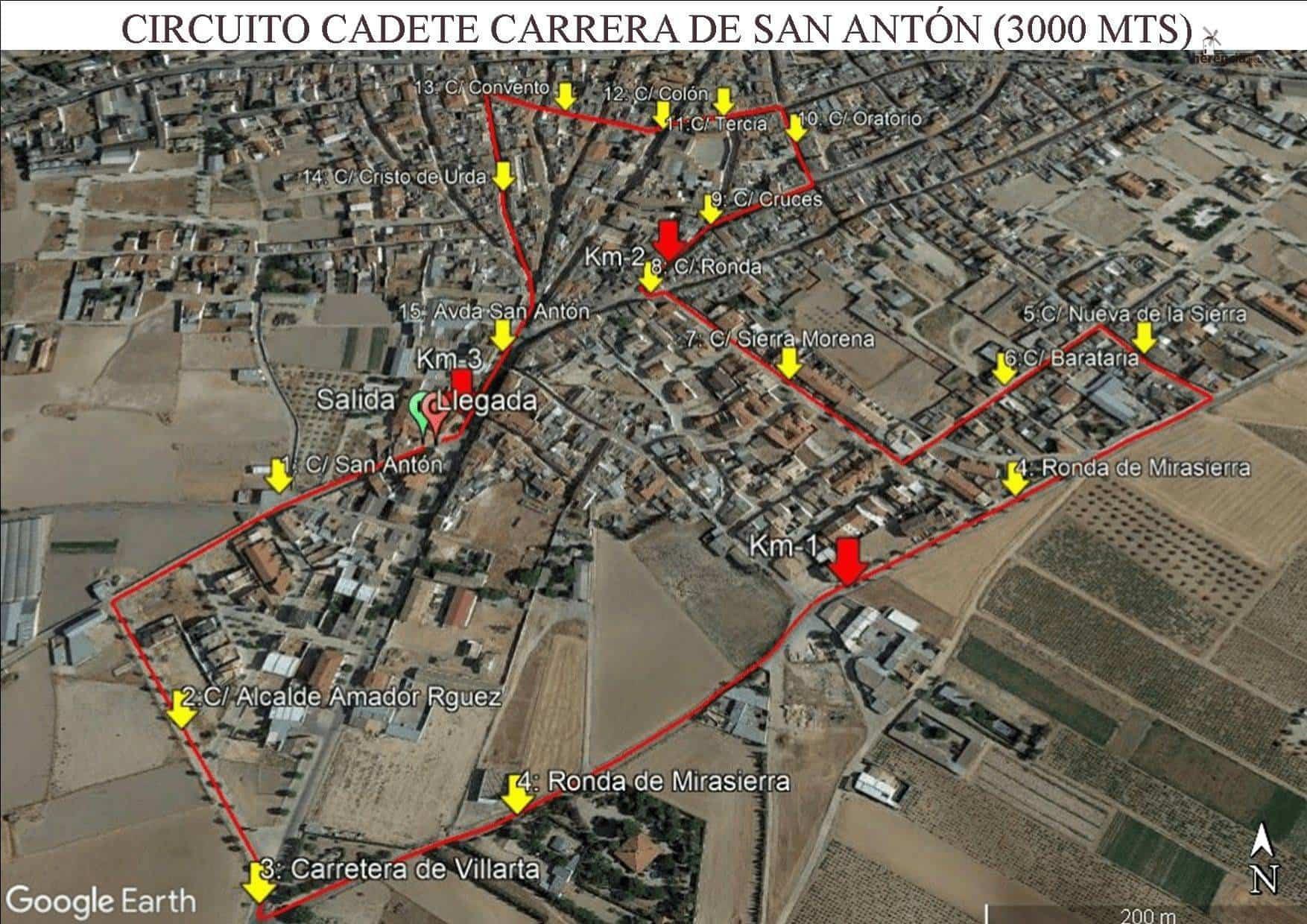 circuito Cadete CPSA - XVIII Carrera popular de San Antón contra el cáncer