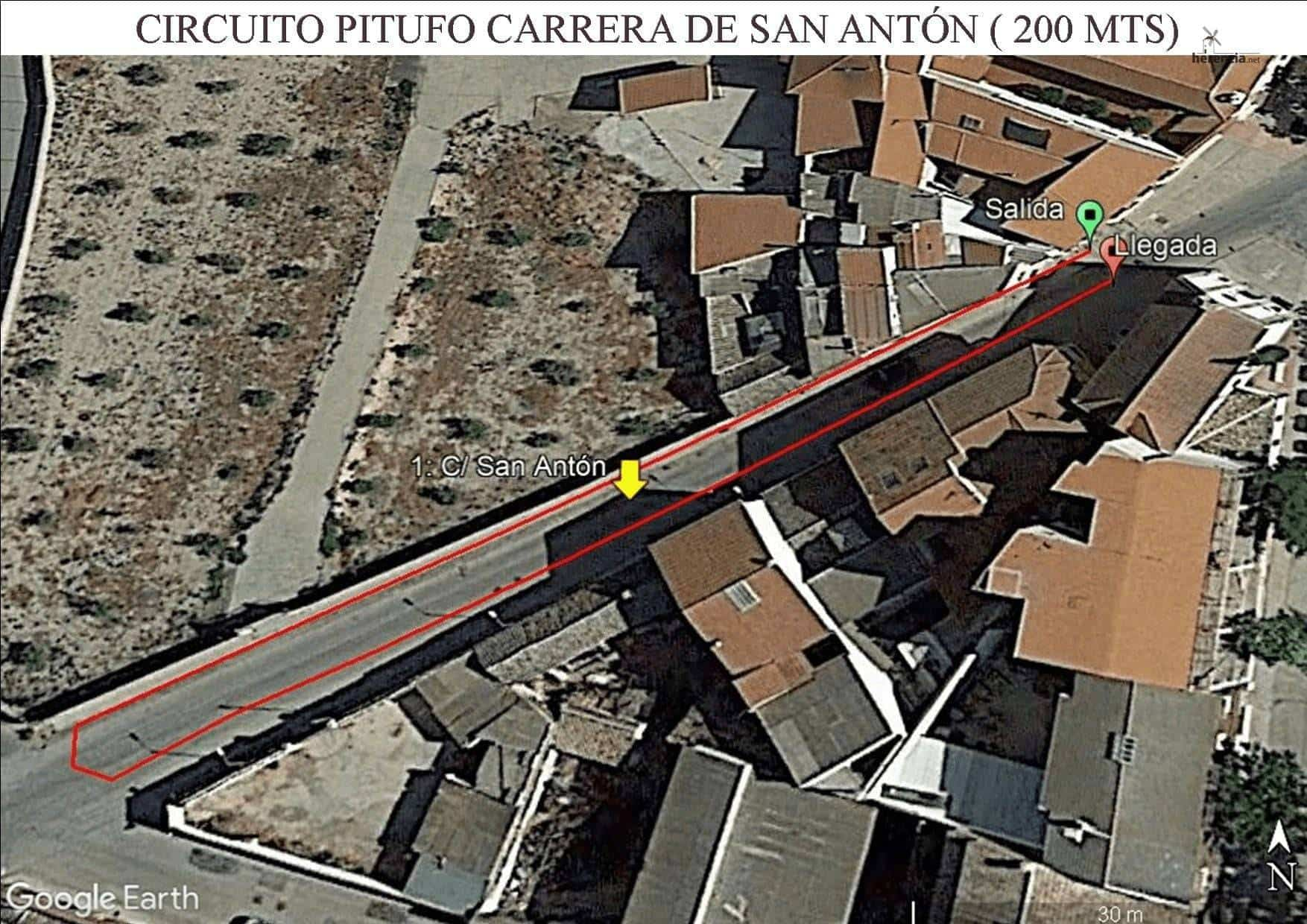 circuito pitufo CPSA. - XVIII Carrera popular de San Antón contra el cáncer