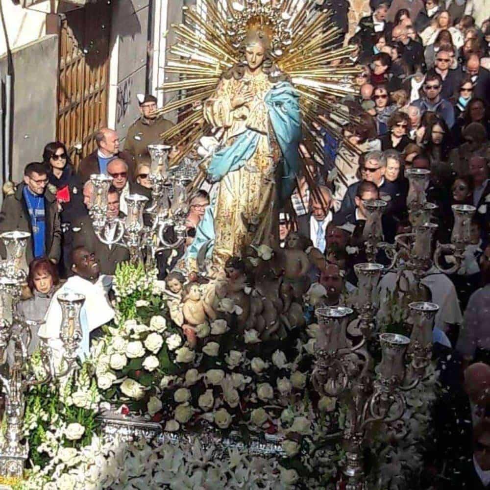 Fotografías de la procesión del día dedicado a María Inmaculada en Herencia 1