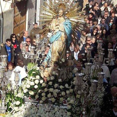 dia de inmaculada concepcion patrona herencia 1 409x409 - Fotografías de la procesión del día dedicado a María Inmaculada en Herencia