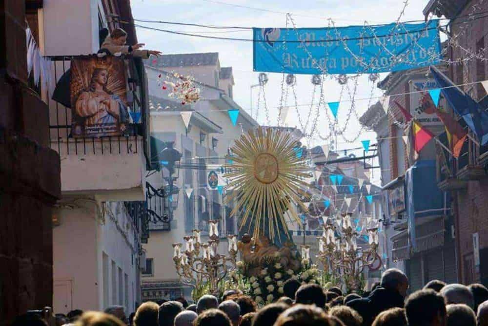 Fotografías de la procesión del día dedicado a María Inmaculada en Herencia 13