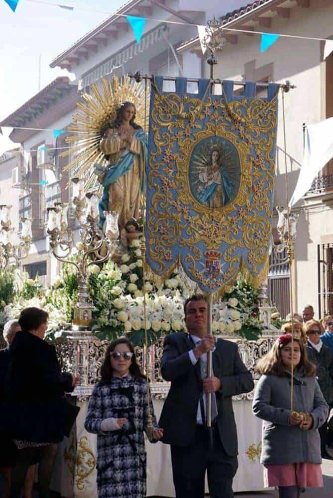 Fotografías de la procesión del día dedicado a María Inmaculada en Herencia 17