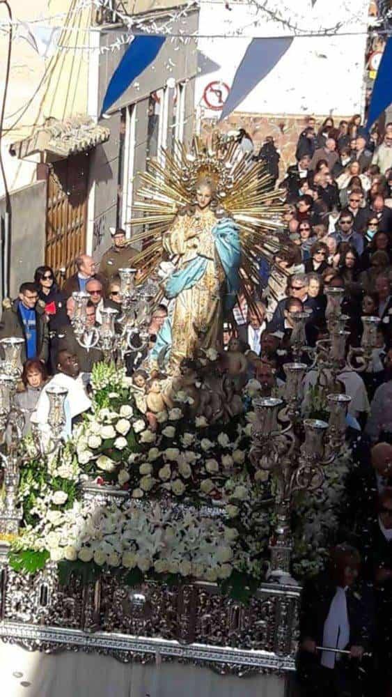 Fotografías de la procesión del día dedicado a María Inmaculada en Herencia 18
