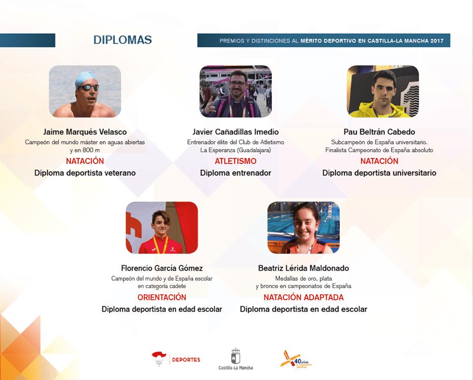 diplomas merito deportivo clm 2017 - Los Premios y Distinciones al Mérito Deportivo CLM 2017 se entregarán en Herencia