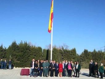 izada de bandera espana en herencia 1 341x256 - Izada de la bandera de España por los 40 años de la Constitución