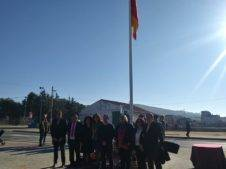 izada de bandera espana en herencia 3 226x169 - Izada de la bandera de España por los 40 años de la Constitución