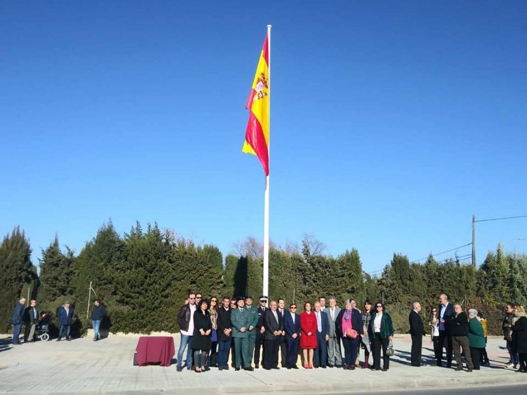 izada de bandera espana en herencia 4 1068x801 - Izada de la bandera de España por los 40 años de la Constitución