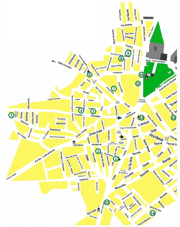 mapa de la ruta de belenes de herencia - 15 nacimientos forman la tradicional Ruta de Belenes