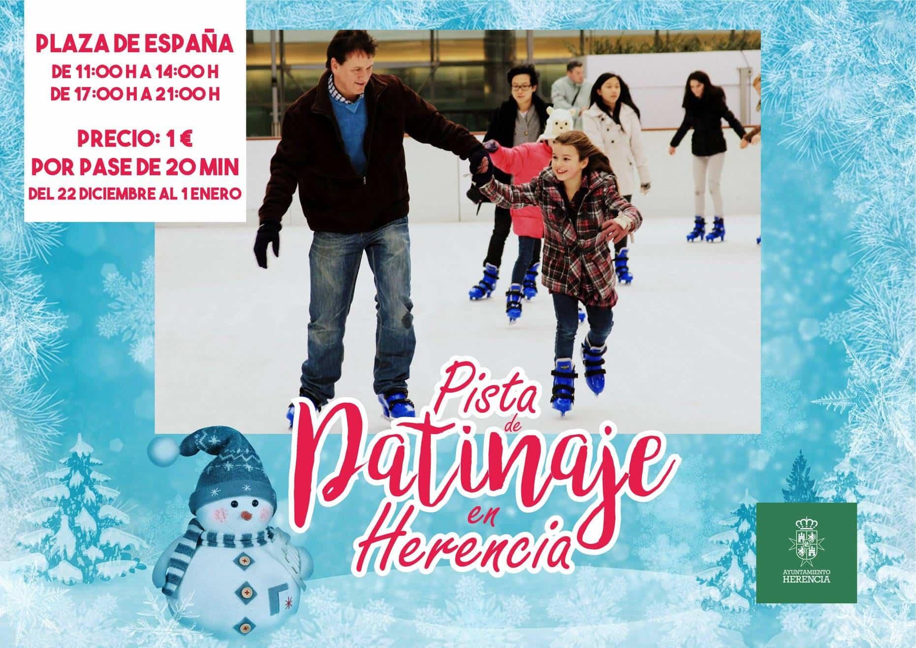 Herencia contará nuevamente con una pista de patinaje en navidad 3