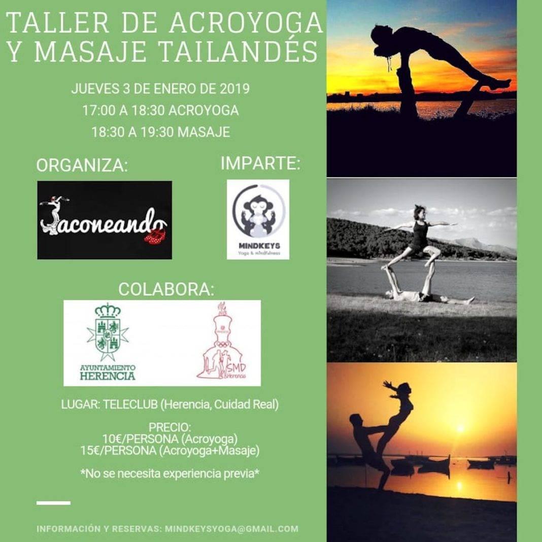 taller acroyoga masaje tailandes 1068x1068 - Taller de acroyoga y masaje tailandés en Herencia