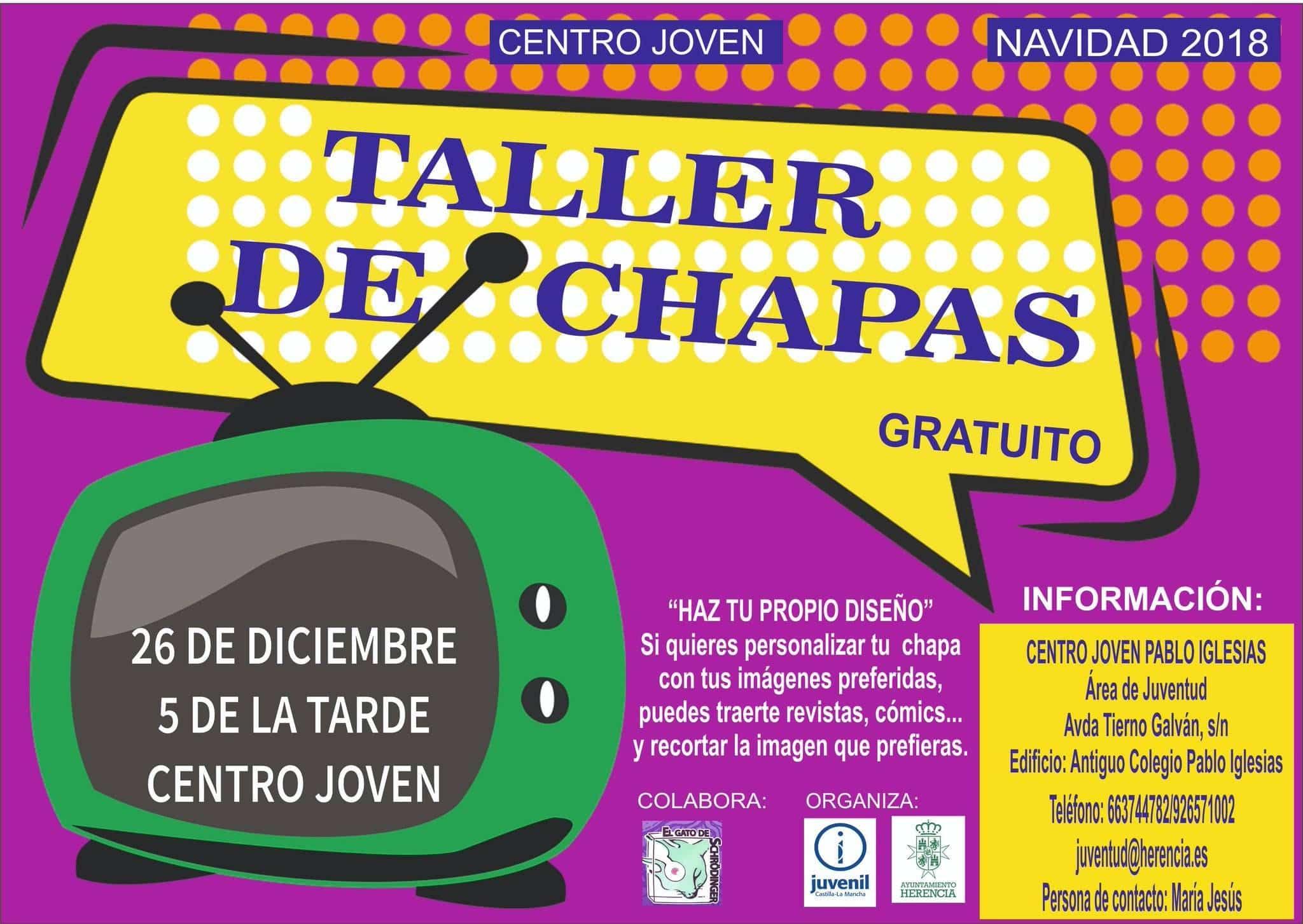 taller de chapas herencia - Taller de Chapas esta navidad en el Centro Joven de Herencia