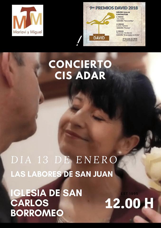Concierto de Cis Adar en LAs LAbores - Cis Adar presenta su último disco en Las Labores