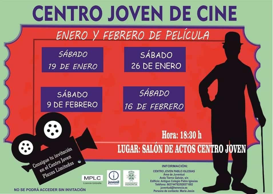 Tardes de cine enero y febrero 2019 herencia - Cine los sábados por la tarde en el Centro Joven de Herencia