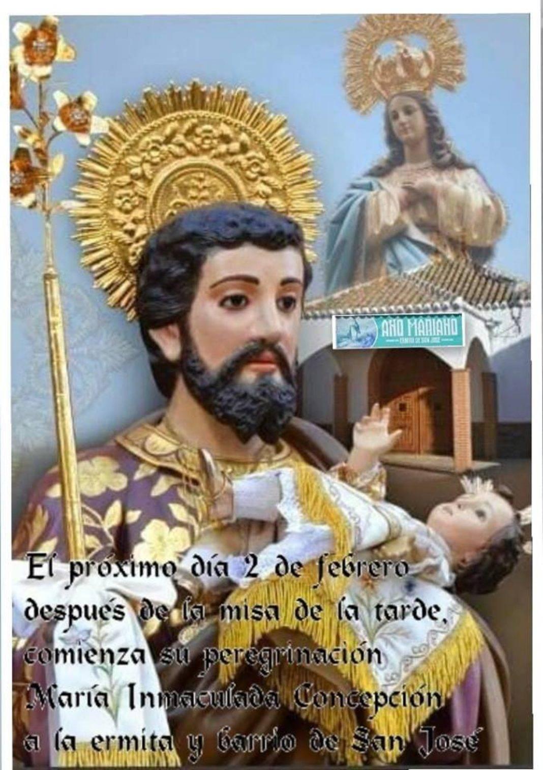 La imagen de la Inmaculada Concepción visitará el barrio de San José 4