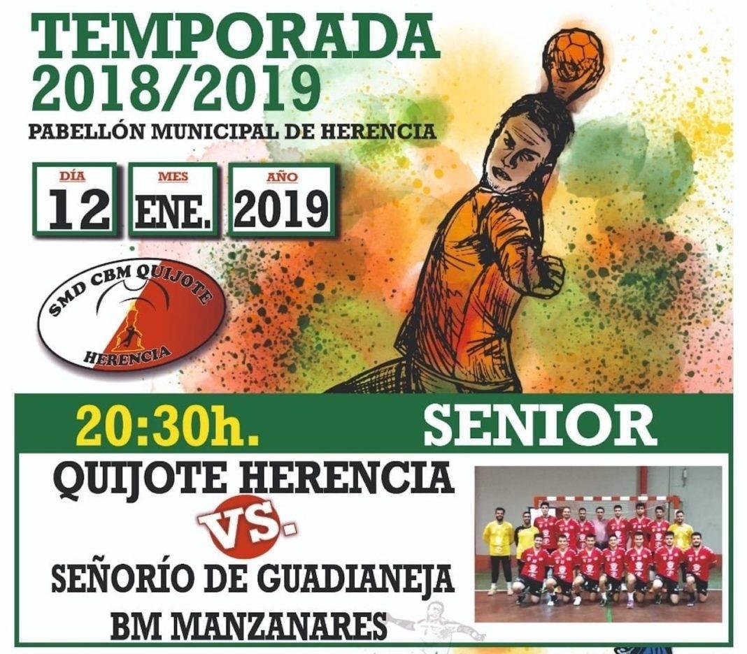 Balonmano en Herencia: Quijote Herencia vs BM Manzanares este 12 de enero 1