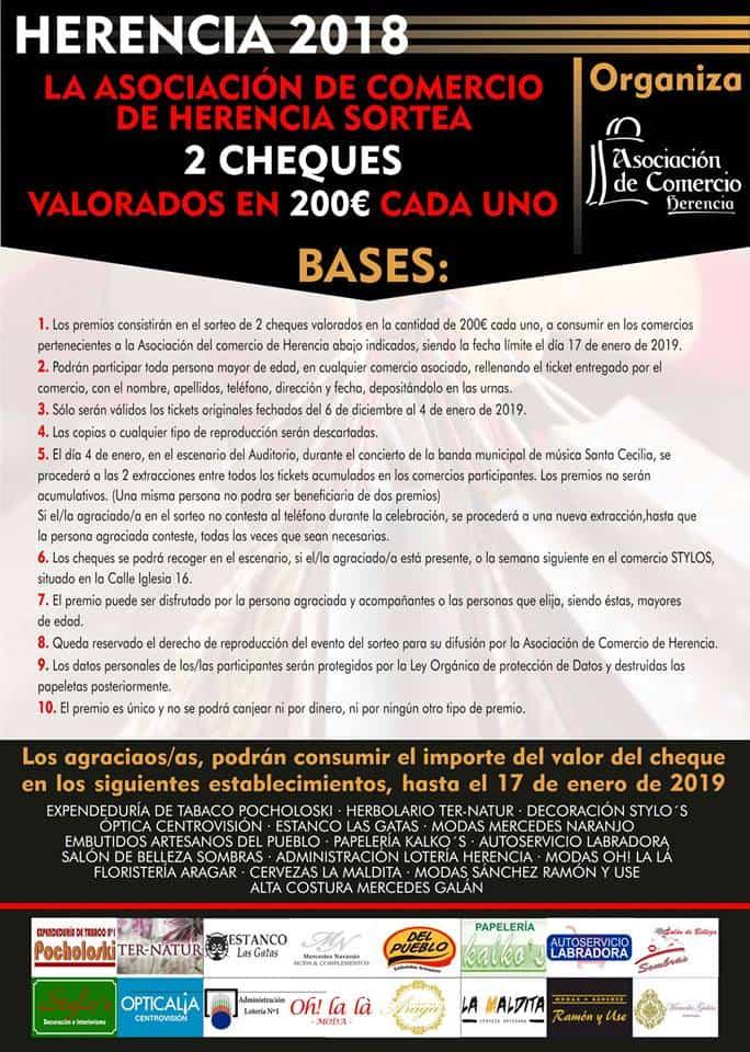 bases asociacion comercio herencia navidad - Comprar en Herencia tiene premio por navidad