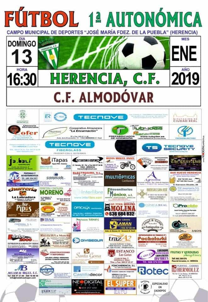 cartel herencia futbol almodovar - Reparto de puntos en el partido entre el Herencia C.F. y el Almodóvar