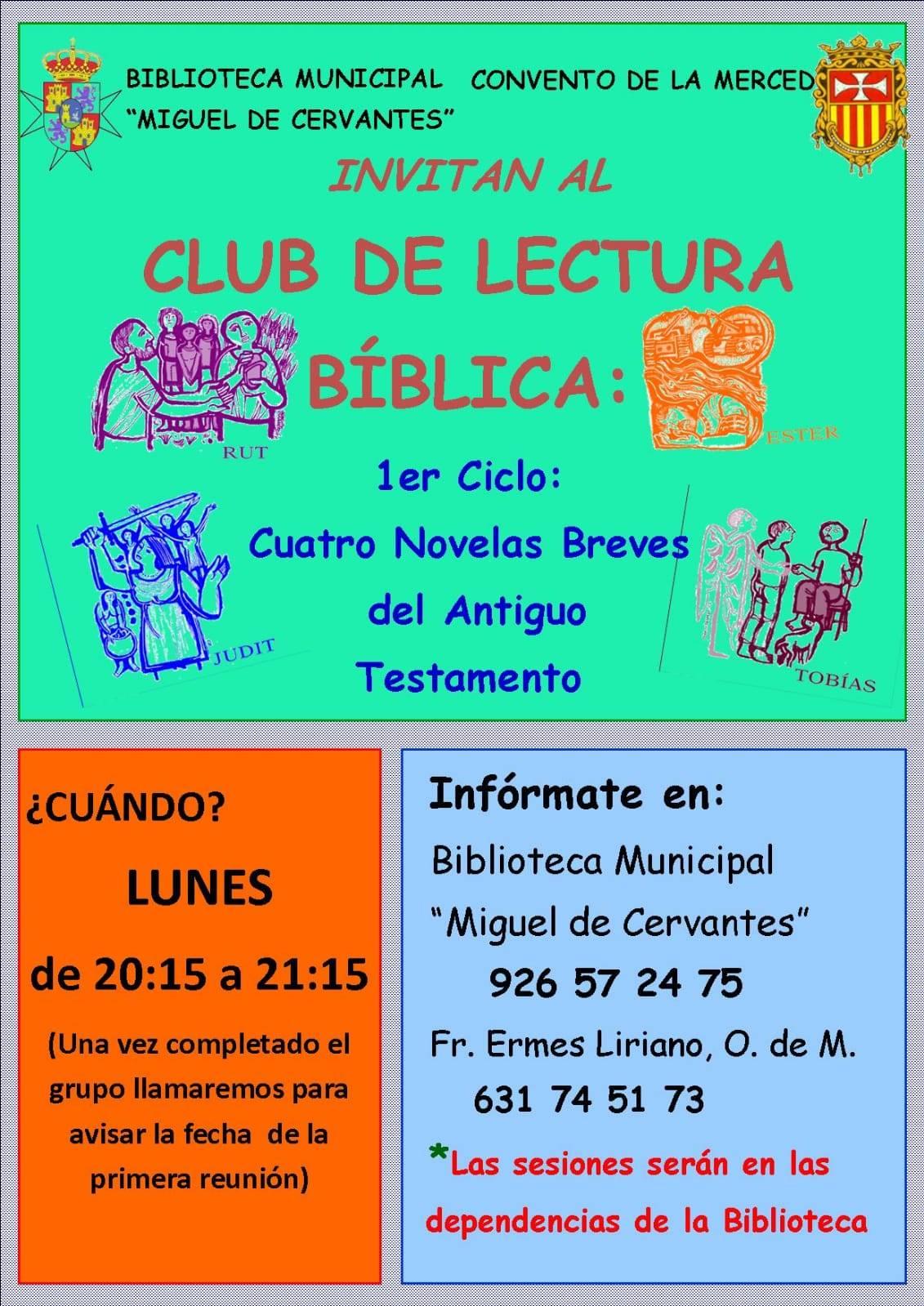 club de lectura bíblica - Abierta la inscripción para un nuevo club de lectura bíblica