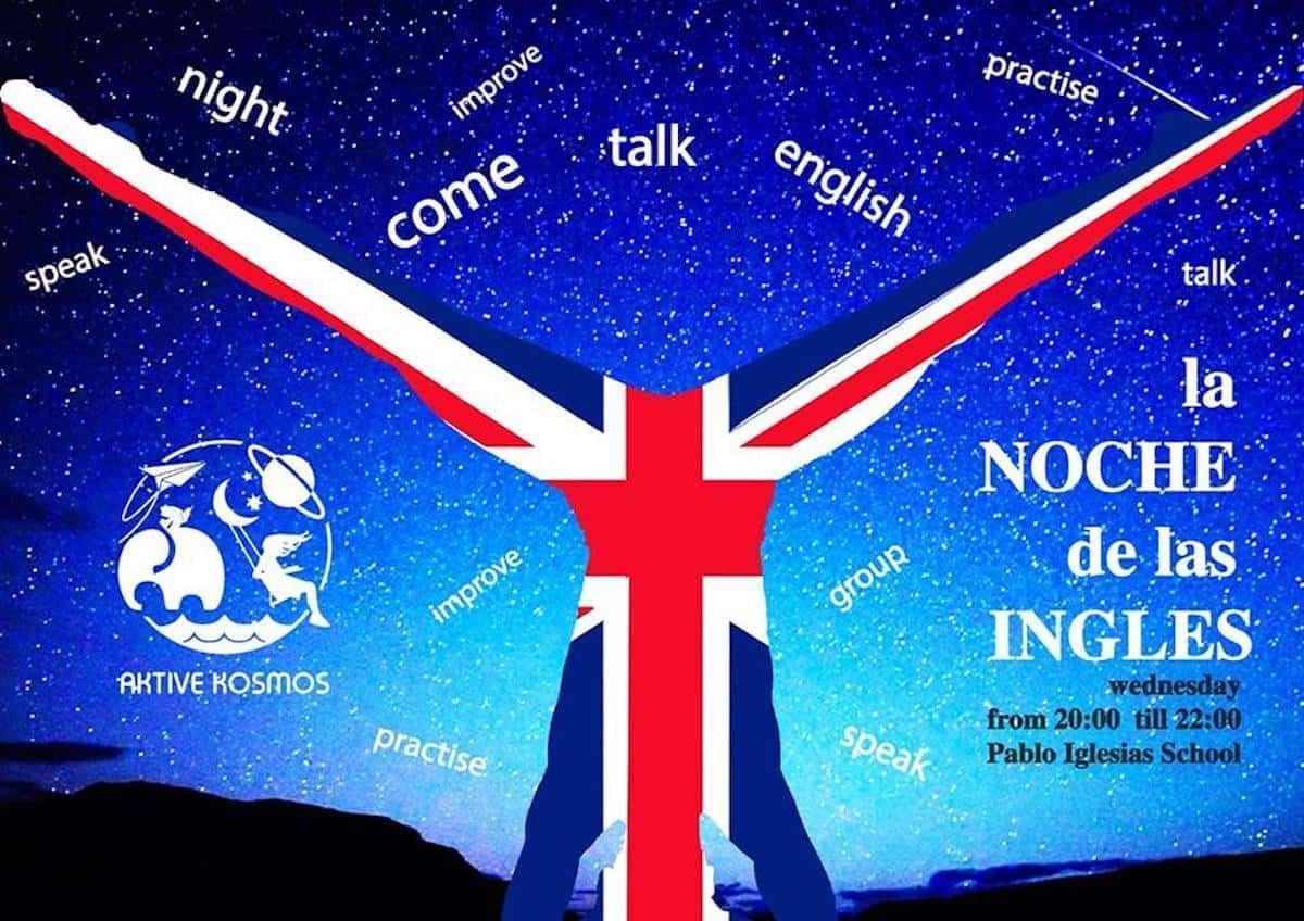 """la noche de la ingles - """"La noche de las ingles"""" para practicar y aprender inglés en Herencia"""