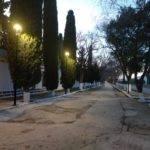 Nueva iluminación en el paseo del cementerio de Herencia 3