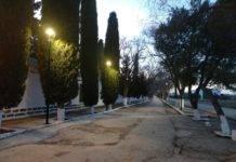 Nueva iluminación en el paseo del cementerio de Herencia
