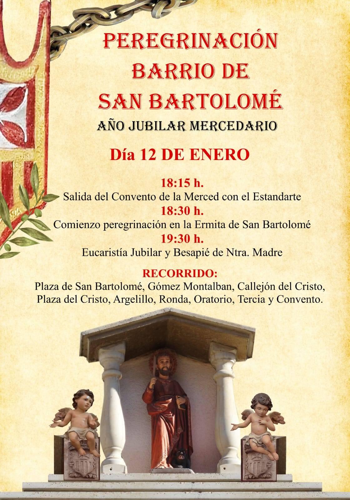 peregrinación jubilar del barrio de san Bartolomé - Peregrinación jubilar mercedaria del barrio de San Bartolomé