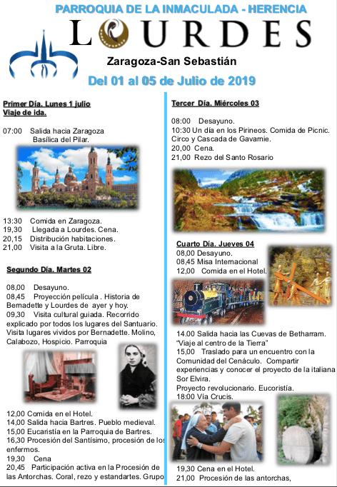 peregrinacion parroquial a Lourdes - La parroquia de Herencia prepara un viaje-peregrinación a Lourdes