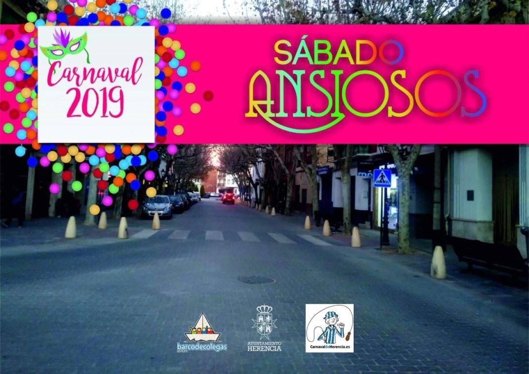 """sabado de los ansiosos 2019 carnaval herencia 1068x755 - """"El Sábado de los Ansiosos"""" del Carnaval 2019 se celebrará en la Avenida de la Constitución"""