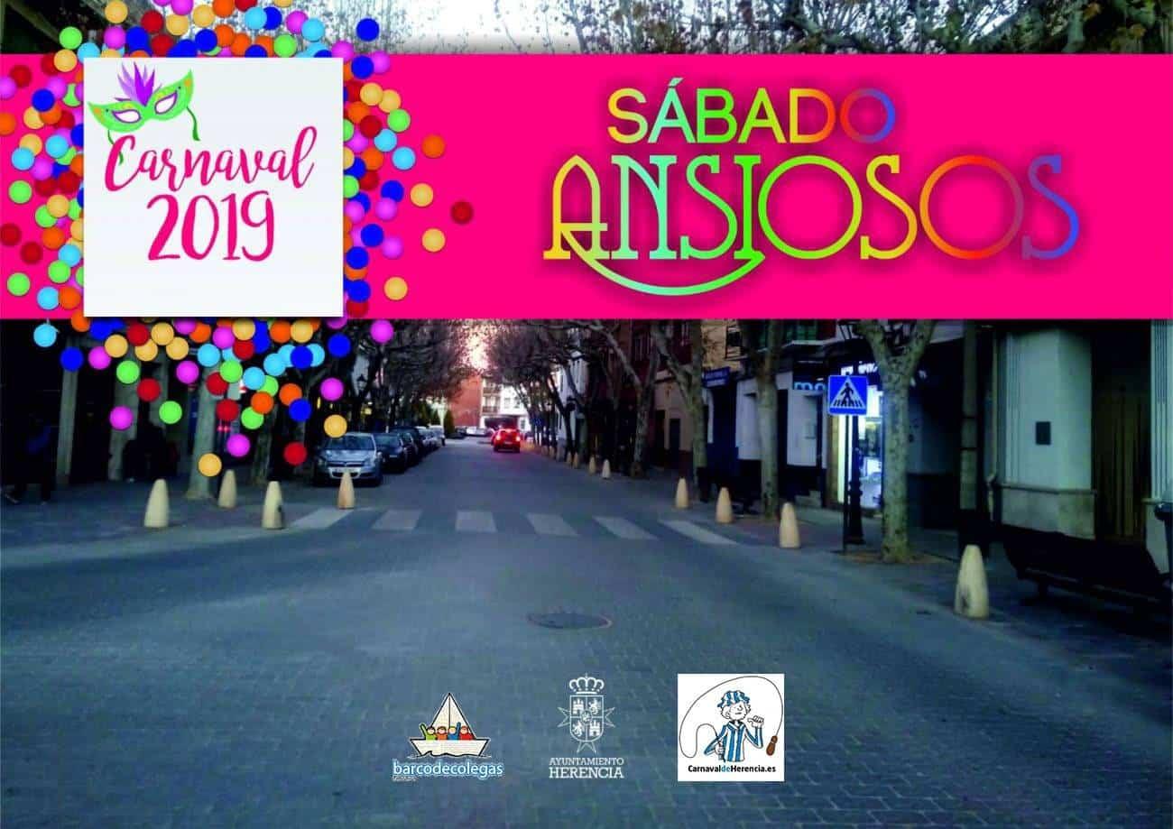 """sabado de los ansiosos 2019 carnaval herencia - """"El Sábado de los Ansiosos"""" del Carnaval 2019 se celebrará en la Avenida de la Constitución"""