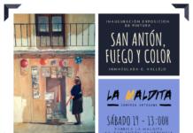 """Exposición de pintura: """"San Antón, fuego y color"""" de Inmaculada G. Vallejo en La Maldita"""