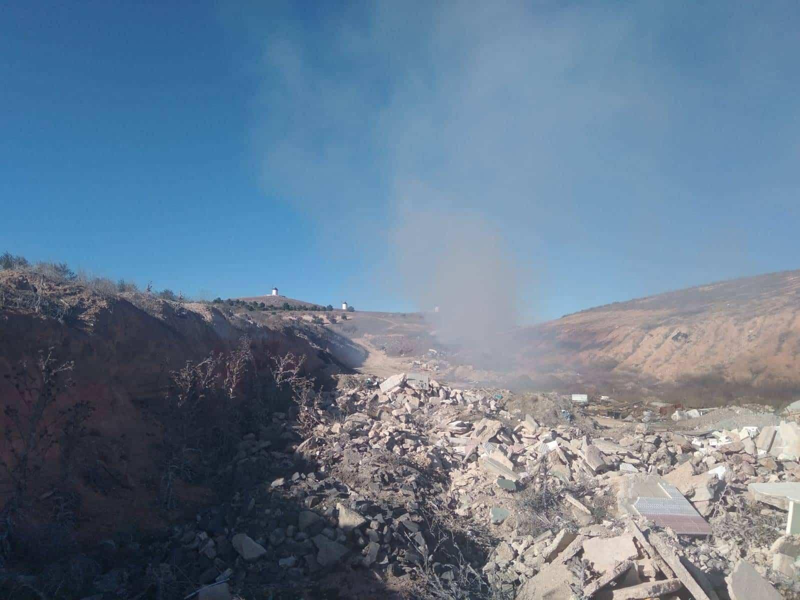 20190225 Escombros junto a la planta de tratamiento 1 - Ciudadanos Herencia pide al Ayuntamiento que traten los escombros como establece la normativa