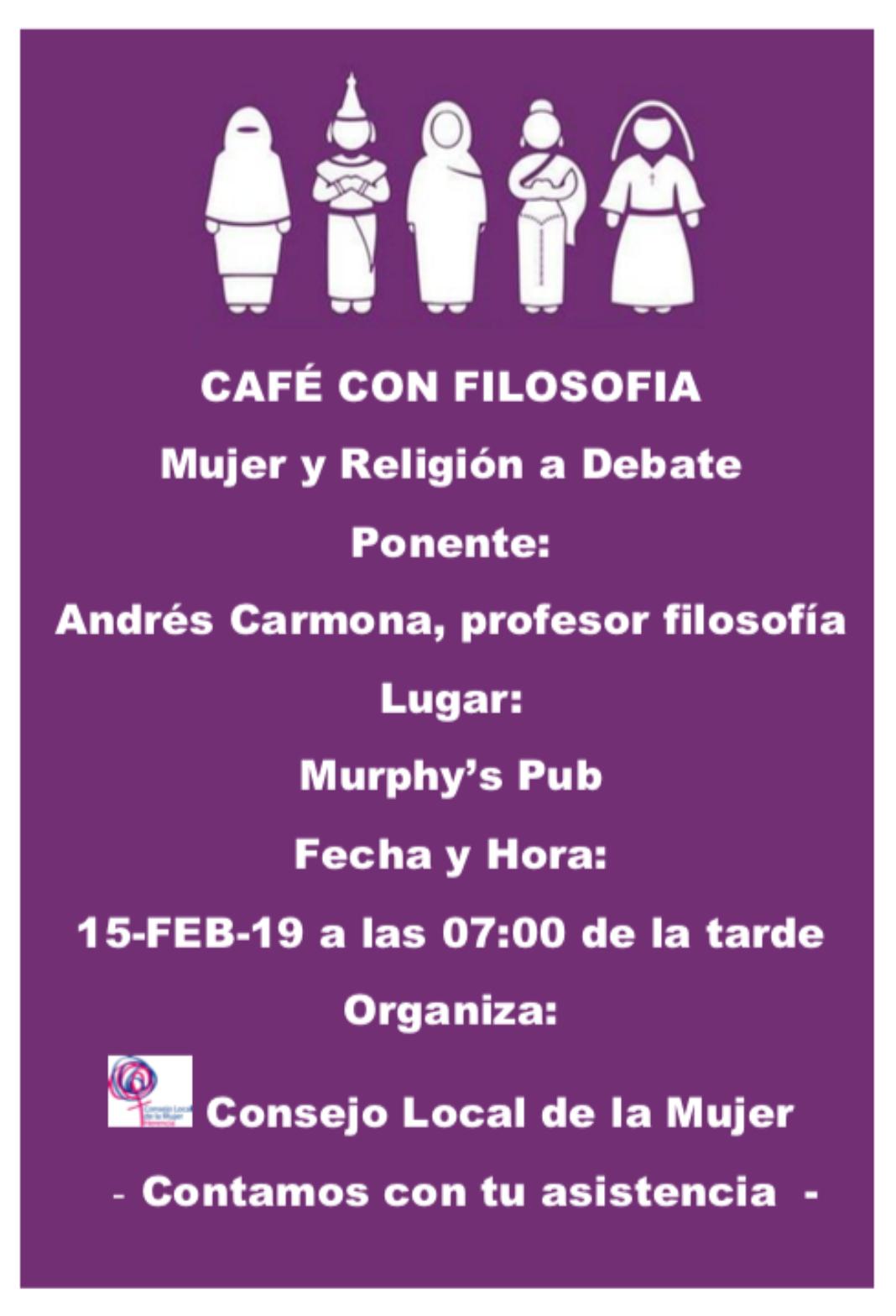 El Consejo Local de la Mujer organiza un café con filosofía para hablar sobre mujer y religión 4