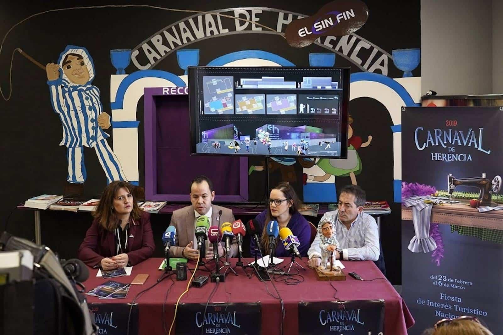 Carnaval de Herencia 2019 Presentacion Cartel - Presentado oficialmente el Carnaval de Herencia y el futuro Palacio del Carnaval