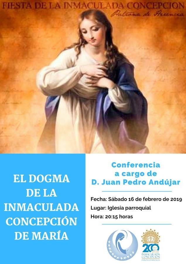 Charla sobre el dogma de la Inmaculada Concepción - Juan Pedro Andújar dará una conferencia en Herencia sobre el dogma de la Inmaculada Conepción
