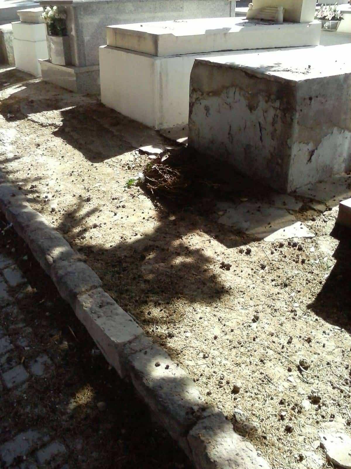 deterioro del cementerio municipal