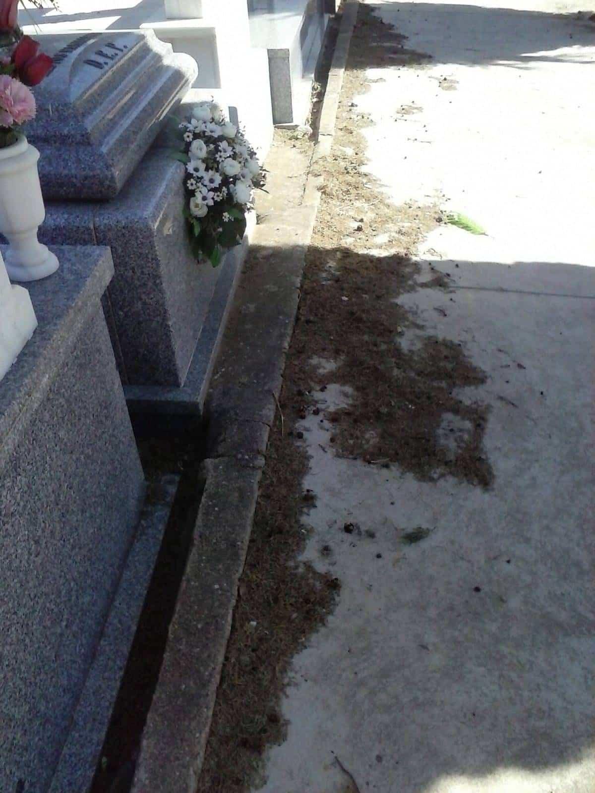 deterioro del cementerio municipal de Herencia